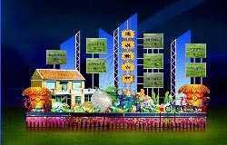 现代灯会设计:建设新农村