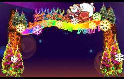 圣诞灯会设计:圣诞门