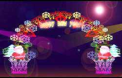 圣诞灯会设计:新年快乐门