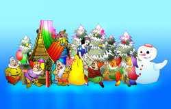 圣诞灯会设计:白雪公主与七个小矮人
