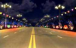 环境装饰设计:行道.音乐灯饰