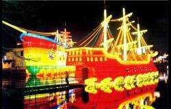 异域风情灯会:海盗船